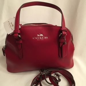BLOW OUT!!! NWT Coach Mini Dome Bag w/ Strap - Red